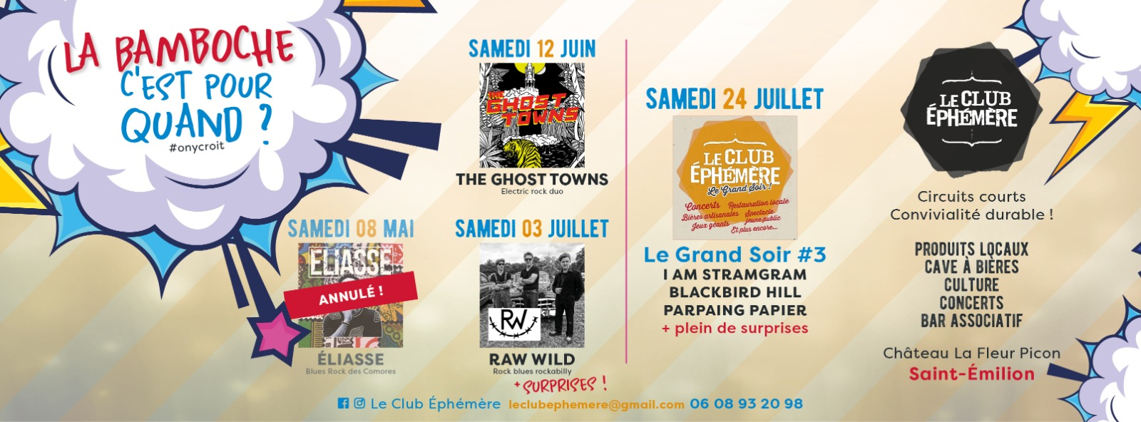 Raw Wild + surprises @ Le Club Ephémère